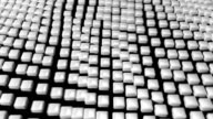 Cube grid flow patterns wobble abstract background white 2 video