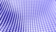 Cube grid patterns wobble abstract background blue purple video