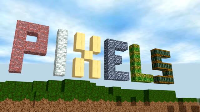 Cube pixel world video