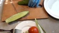 Cucumber cutting video