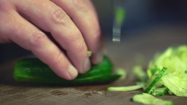 cucumber sliced UHD 4K proresHQ video