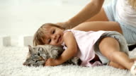 Cuddling with cat video