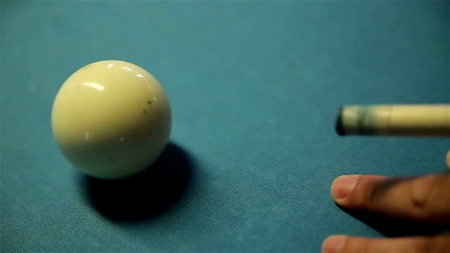 cue ball in billiards video