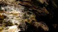 Cueva de los Verdes (Lanzarote) - close up on rock wall in a  big cave video