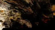 Cuevas de los Verdes- geological rock walls in a cave video