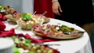 HD: Culinary delights spread all over the table video