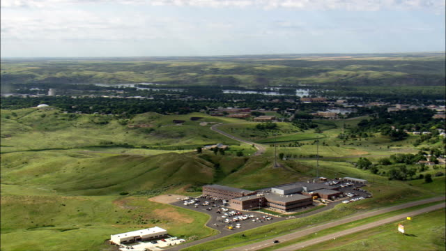Cultural Centre  - Aerial View - South Dakota, Stanley County, United States video