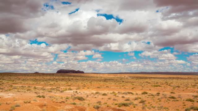 T/L 8K Cumulus clouds over the desert of Utah video