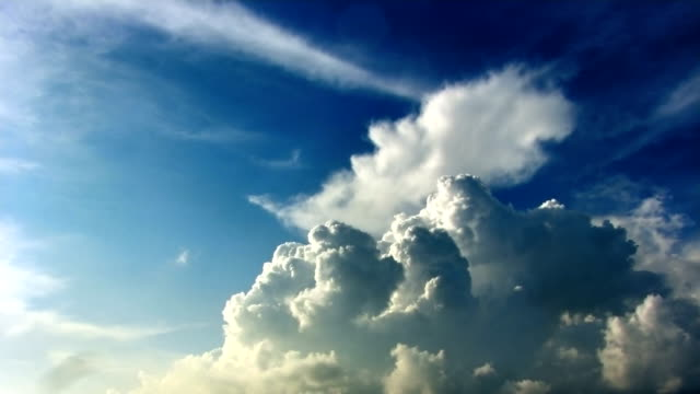 Cumulus clouds time lapse hdr video