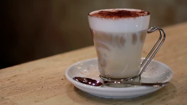 Cup of cappuccino video