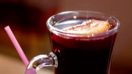 A cup of hot mulled wine video
