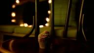 Cupcake on vintage chair video