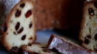 Cupcake with raisins close to video