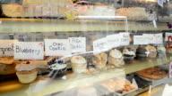 cupcakes in bakery window video