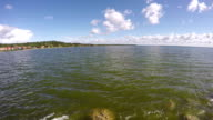 Curonian lagoon shore, time lapse video