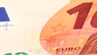 Currency euro. video
