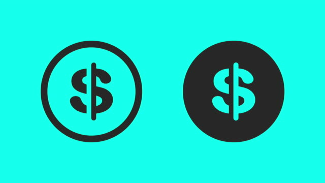 Currency Symbol - Vector Animate video