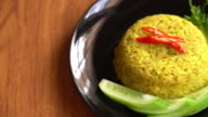 curry fried rice video