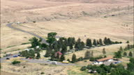 Custer National Cemetery - Aerial View - Montana, Big Horn County, United States video