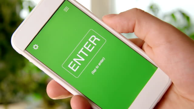 Customer Loyalty concept application on the smartphone. Man uses mobile app. video