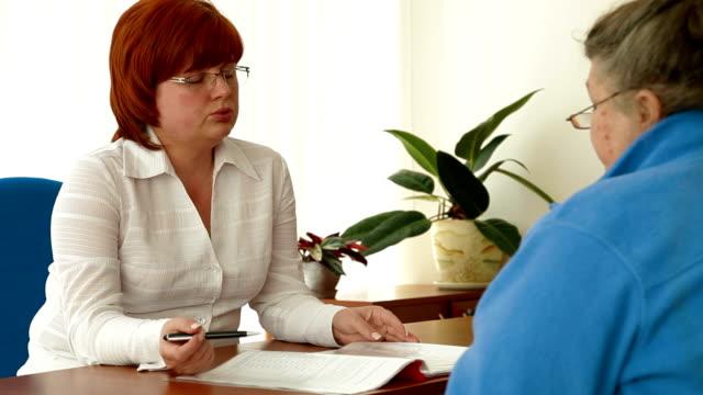 Customer Meeting With Financial Advisor video