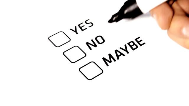 Customer Satisfaction Survey Ticking Maybe video