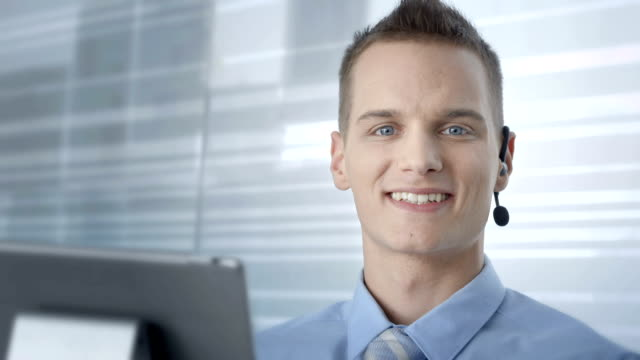 HD: Customer Service Advisor Smiling At Camera video