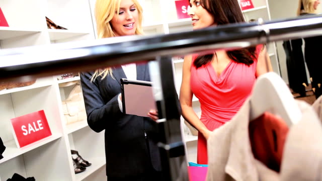 Customer Viewing Online Fashion Collection video