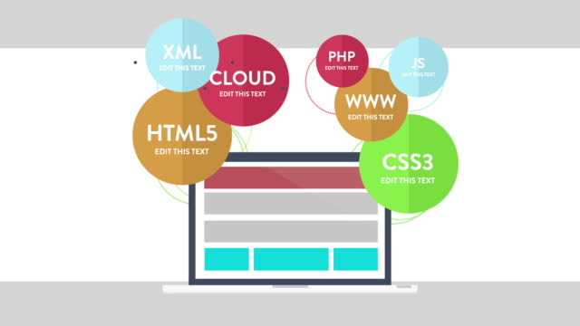 Customizing Promo  - Web design Infographics video