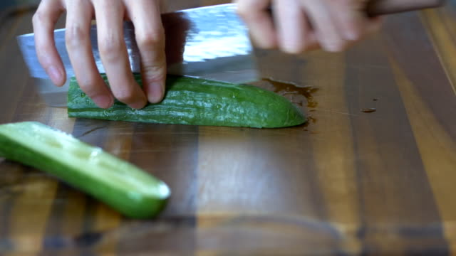 cut cucumber video