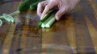 cut cucumber video