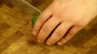 Cut the avocado with a sharp knife video