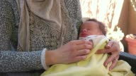 Cute Baby Boy Child Infant Newborn Sleeping With Mom Mother video