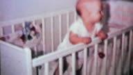 Cute Baby Boy In His Crib-1964 Vintage 8mm film video