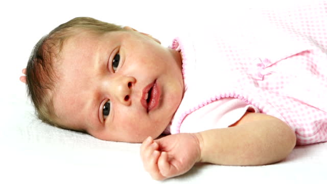 Cute baby close up video
