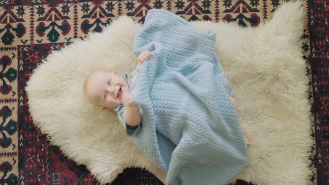Cute Baby Giggles At Camera video