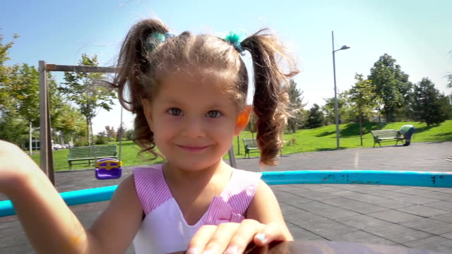 Cute Baby Girl in playground video
