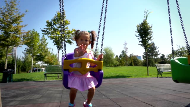 Cute Baby Girl on Swing video