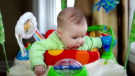 Cute baby in slow motion video
