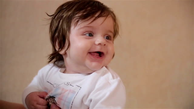 cute baby's laughing video