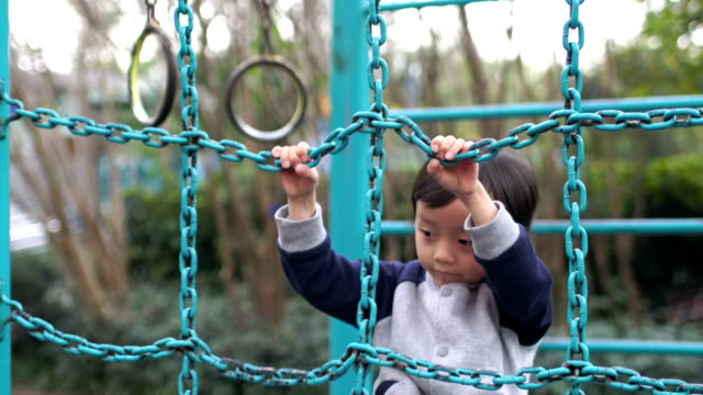 Cute children playing in the park video