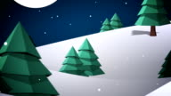 Cute christmas characters with greeting video