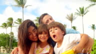 Cute family flexes video