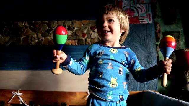 Cute Kid Rattling In Joyuos Mood video