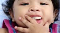 Cute little boy eating video