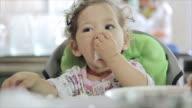 Cute Little Girl breakfast video