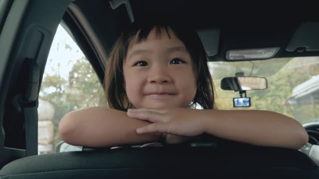 Cute Little Girl In Car video