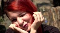 Cute Redheaded Teen Girl Winking video