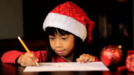 Cute Six Year Old Drawing Picture For Santa Claus video