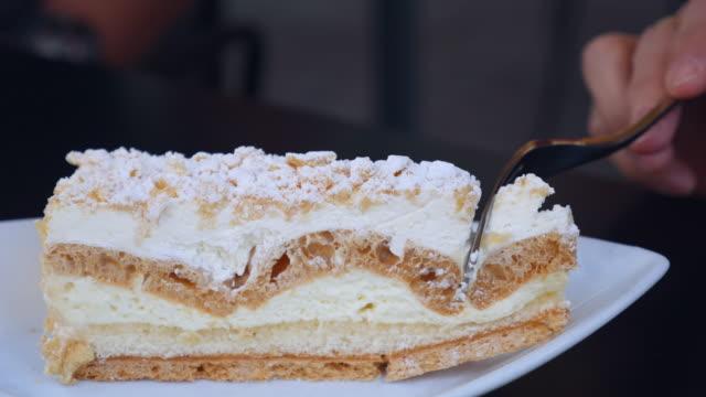 Cuting Cream cake video